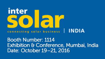 Suntellite Intersolar India 2016